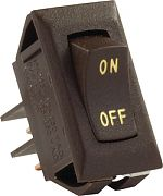 JR Products 12605 Labeled 12 Volt On/Off Switch Brwn