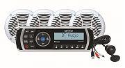 Jensen CPM200 AM/FM/USB/Bluetooth Stereo Package MS2013BT, Aux Input, 4 AMS602W