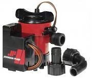 Johnson Pump 0550300 Combo Bildge Pump With Automatic Electromagnetic Switch - 500 12V