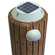 Lake Lite Solar Piling Down Light - White Finish