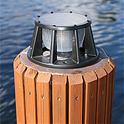 Lake Lite Solar Piling Light - Black Finish
