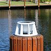 Lake Lite Solar Piling Light White Finish