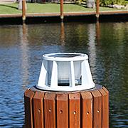 Lake Lite Solar Piling Light White Finish