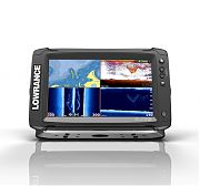 Lowrance Elite-9 TI Touch Combo - Mid/High/DownScan Transducer