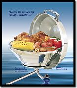 Magma A10205 Marine Kettle Gas Grill with Hinged Lid