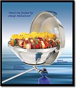 Magma A10215 Marine Kettle Gas Grill with Hinged Lid 17""