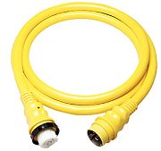 Marinco 6153SPP25 50A 125V Yellow Powercord Plus Cordset - 25´