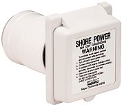 Marinco 6351ELB 50A 125V Standard Inlet with Rear Safety Enclosure
