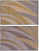 Mings Mark GA7-BRN/GOLD 8X12 Patiomat Brn/Gold Graphic
