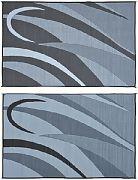 Mings Mark GB1-BLK/SLVR 8X16 Patiomat Blk/Slvr Graphic