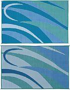 Mings Mark GB3-BLU/GRN 8X16 Patiomat Blu/Grn Graphic