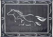 Mings Mark GH8181 Mat Horses 8´X18´ Black White