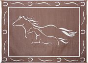 Mings Mark GH8187 Mat Horses 8´X18´ Brown White