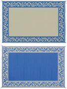 Mings Mark RD3-BLU 6X9 Patiomat Blue/Beige