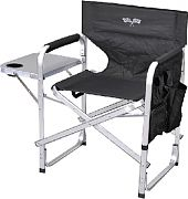 Mings Mark SL1204-BLK.FLAG Deluxe Camping Chair Blk/Flag