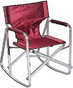 Mings Mark SL1205-BURGUNDY Camping Chair Rocker Burgundy