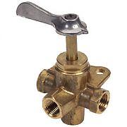 "Moeller 03330410 1/4"" Brass Four-Way Valve"