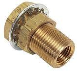 """Moeller 03343510 Fitting-Bulkhead Brass 1/4"""" NPT"""