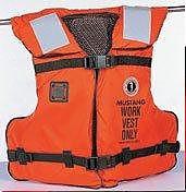 Mustang Survival Work Vest Type III Orange