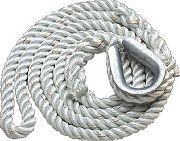 New England Ropes 629K02000015 3 Strand Moor Pendant 5/8X15
