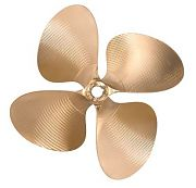 "OJ Props 424 12.5"" X 13"" .110 Cup Splined Bore LH Propeller"