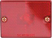 Optronics MC36RBP Clrnce Mrkr Sq Red Std Mnt