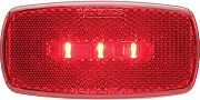 Optronics MCL32RBBP Ledmark Lght Ovl Blk Bse Red