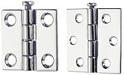 "Perko 1293DP9CHR Butt Hinge - Removable Pin - 3"" x 3"""