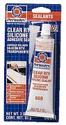 Permatex 80050 Clear RTV Silicone Adhesive Sealant 3oz Tube
