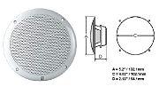 Polyplanar MA-4054 Speaker White 4 Round Flush Mount