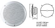 Polyplanar MA-4055 Speaker White 5 Round Flush Mount