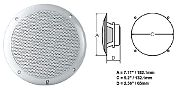 Polyplanar MA-4056 Speaker White 6 Round Flush Mount