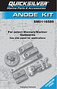 Quicksilver 97-8M0116589 W Anode Kit L6 Verado 350HP Qs