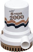 Rule Industries 09 5 Year 2000 Gph Pump 12 Volt