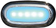 Scandvik 41362P 5 LED Court Light Sf SS Blue