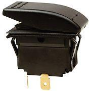 Seachoice 10981 Illuminated Black Rocker Switch - DPDT - On/Off/On