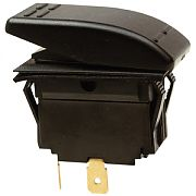 Seachoice 11001 Illuminated Black Rocker Switch - DPST - Mom/Off/On