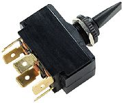Seachoice 12031 6 terminal Toggle Switch - Mom On/Off/Mom On