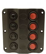 Seachoice 12321 4 Gang LED Switch Panel