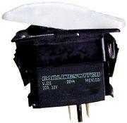 Seachoice 12891 Non-Illuminated White Contura Rocker Switch - SPST - Mom/Off