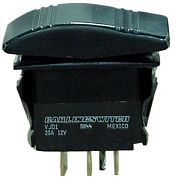 Seachoice 12921 Non-Illuminated Black Contura Rocker Switch - SPST - Mom/Off/Mom