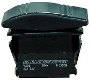 Seachoice 12941 Non-Illuminated Black Contura Rocker Switch - DPDT - Mom On/Off/Mom On