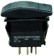 Seachoice 13001 Illuminated Black Contura Rocker Switch - DPST - Mom/Off/On
