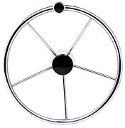 Seachoice 28541 Destroyer Steering Wheel W/ Black Center Cap