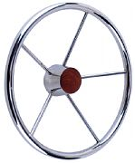 Seachoice 28551 Destroyer Steering Wheel W/ Teak Cap