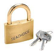 Seachoice 37301 Keyd Alike Brass Padlock 1 1/