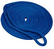 "Seachoice 40411 Double Braid Nylon Dock Line - Blue 1/2"" x 20´"