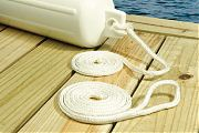 Seachoice 40901 Fend Line White Brd 1PR 1/4X6