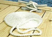 Seachoice 42531 Nylon Dock Line Wh 3/8X25 Clam
