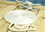 Seachoice 42631 Nylon Dock Line Wh 3/4X25 Clam